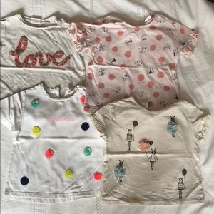 Bundle of 4 Zara girl T-shirt's size 3T